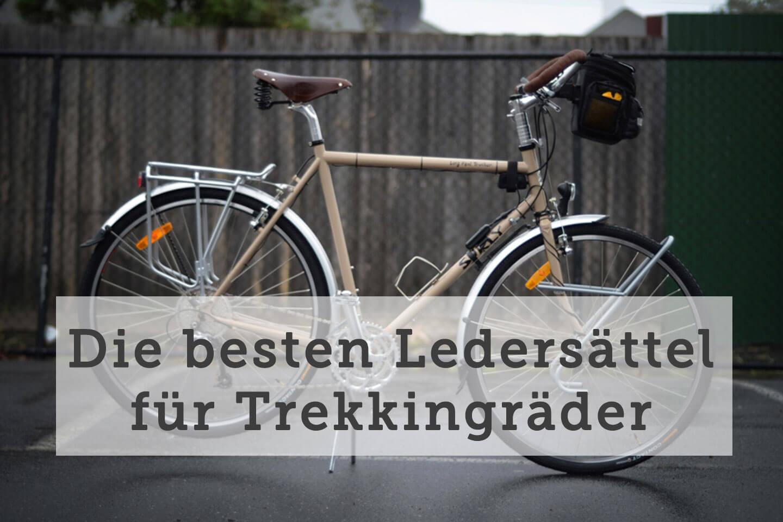 Ledersattel fürs Trekkingrad