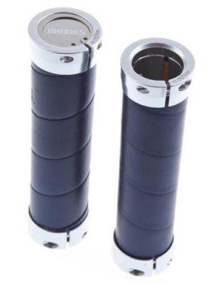Brooks Slender Leder Lenkergriffe 130 mm, Slender, Farbe blau