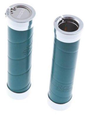 Brooks Slender Leder Lenkergriffe 130 mm, Slender, Farbe türkis